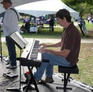Playing at Purple Stride Fundraiser with BYO Musicians