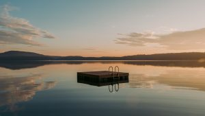 brown wooden dock on calm water during daytime